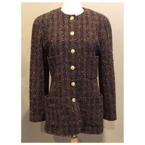 ✨Authentic Vintage CHANEL Tweed Boucle Jacket Coat